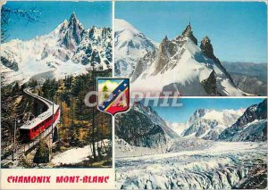 Modern Postcard Chamonix Railway Montenvers and Aiguille du Dru Funicular Rai...