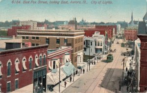 13161 Trolley Car on East Fox Street, Aurora, Illinois,