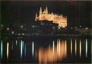 Spain Palma de Mallorca  the Cathedral nocturnal view Postcard