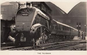 The Talisman 60028 Scottish Train Leaving For Edinburgh RPC Postcard