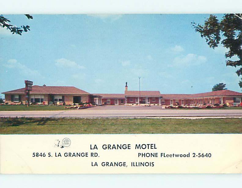 Pre-1980 LA GRANGE MOTEL Lagrange - La Grange Illinois IL s8812