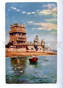 173635 PORTUGAL LISBON Torre de Vicente Vintage TUCK postcard