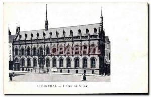 Old Postcard Kortrijk Hotel De Ville