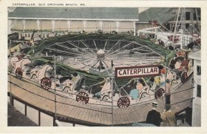 OLD ORCHARD BEACH, Maine , 1910s ; Caterpillar Ride