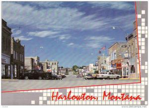 Downtown, HARLWTOWN, Montana, 50-70´s