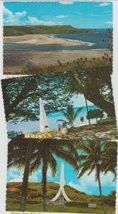 Guam Photo Postcards Lot of 3 Glossy Memorials Pago Bay