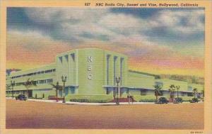 California Hollywood NBC Radio City Sunset And Vine