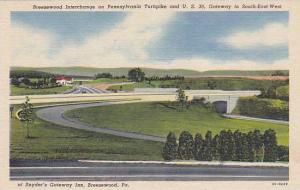 Breezewood Interchange on Pennsylania, Turnpike and U.S., Snyder's Gateway In...