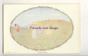 ch0411 - Our Old Nursery Rhymes, Georgie Porgy, by H.Willebeek Le Mair - P'card