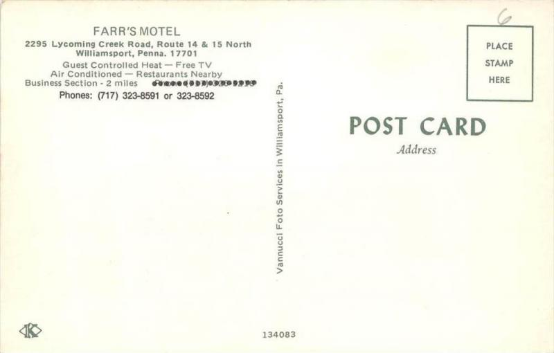 9885   PA Williamsport   Farr's Motel