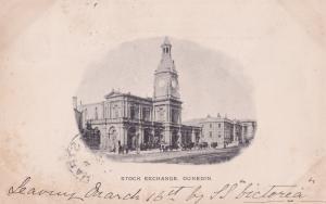 Stock Exchange Dunedin Auckland New Zealand Antique 1903 Postcard