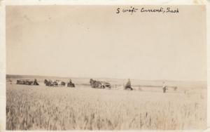 RP: SWIFT CURRENT , Sask. , Canada , 1900-10s , Cutting Wheat
