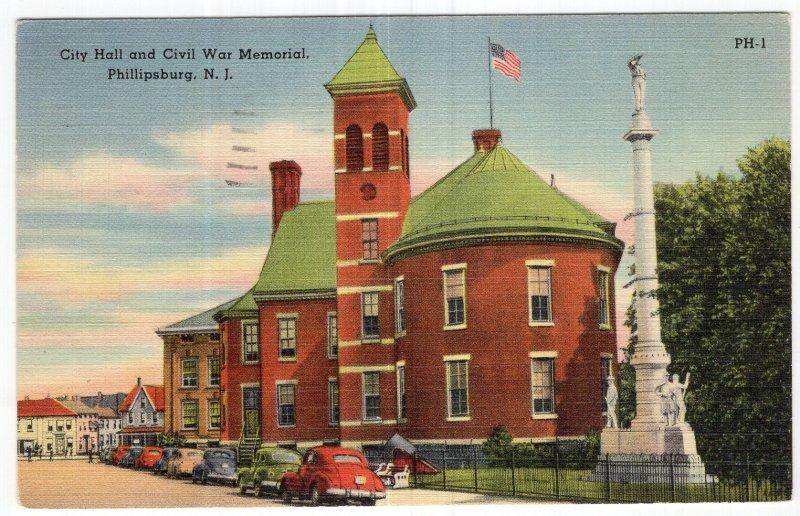 Phillipsburg, N.J., City Hall and Civil War Memorial