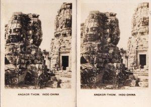 Angkor Thom Indo China Antique 2x Cigarette Card s
