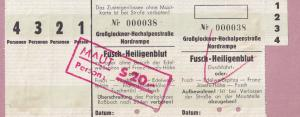 Fusch to Heiligenblut 1950s Toll Transport Austria Ticket