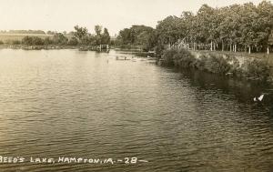 IA - Hampton. Beed's Lake   *RPPC