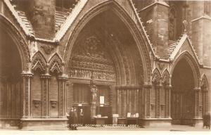 Westminster Abbey. The North Doorway Tuck Real Photograph PC # 3717