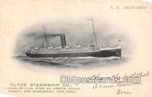 SS Arapahoe Clyde Steamship Co, New York USA Ship 1907