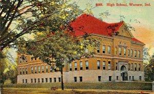 WARSAW INDIANA~HIGH SCHOOL~J B WATSON PUBLISHED 1910s POSTCARD