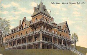 Butler County General Hospital Butler, Pennsylvania, USA 1910 light postal ma...