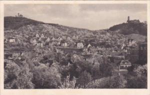 Germany Weinheim Bergstrasse Burgruine Windeck und die Wachenburg