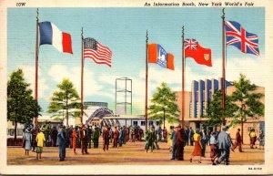 New York World's Fair 1939 An Information Booth 1939 Curteich