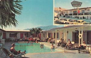 DESERT HOT SPRING, CA California  BROADVIEW LODGE SPA-TEL Pool  c1960's Postcard