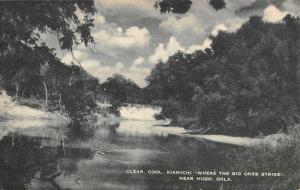 Hugo Oklahoma Kiamichi Waterfront Lake Antique Postcard K73433