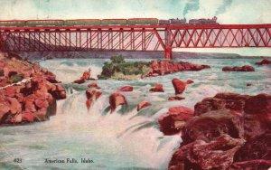 Vintage Postcard 1908 American Water Falls Idaho ID Nature