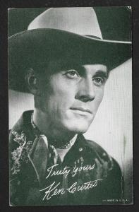 ARCADE CARD Cowboy Entertainer Ken Curtis