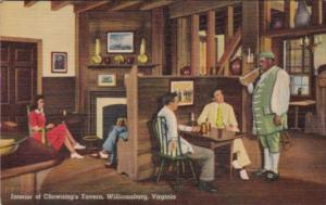 Viginia Williamsburg Interior Of Chowning's Tavern Curteich