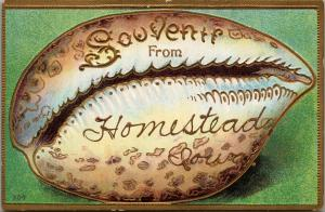 Where Do You Find An Embossed Gold Homestead IA Seashell? Only @ Refried Jeans!