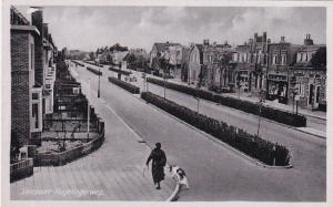 SANTPOORT (North Holland), Netherlands, 1910-1920s; Woman Walking Her Dog, Hagel