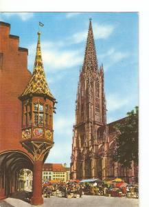 Postal 021727 : Freiburg im Breisgau, Münstertum mit Kaufhauserker