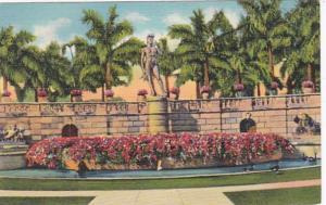 Florida Sarasota Court Showing David Statue Ringling Art Museum Curteich