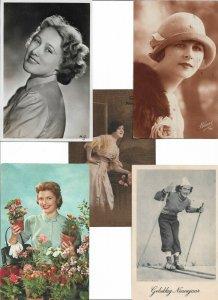 Artist Signed Art Nouveau Woman Lot of 20 Postcards 01.08