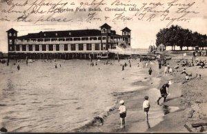 Ohio Cleveland Gordon Park Beach 1907