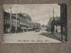 Pike St., Port Jervis, N.Y., 1907, used vintage card