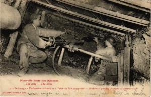 CPA Nouvelle Serie des Mineurs The coal The mine La havage Perforation (127140)