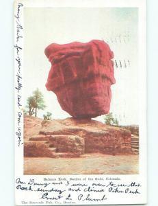 Pre-1907 BALANCE ROCK GARDEN OF GODS Colorado Springs Colorado CO n5882