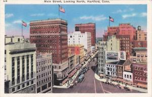 Main Street, Lookin North, HARTFORD, Connecticut, 30-40's