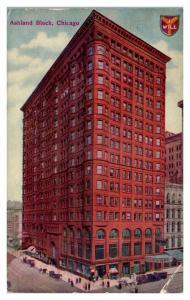 1912 Ashland Block, Chicago, IL Postcard *5N15