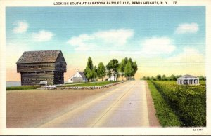 New York Bemis Heights Looking South At Saratoga Battlefield Curteich