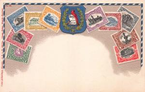 Guatemala, Classic Stamps in Actual Colors, Early Embossed Postcard, Unused