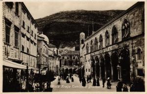 CPA Croatia Dubrovnik - Ragusa Placa Kralja Tomislava (570448)