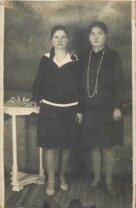 Women portrait photo postcard
