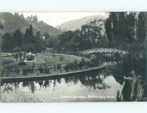 old rppc QUEEN'S GARDEN Nelson New Zealand i1930