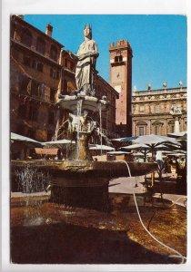 VERONA, Piazza Erbe: la fontana di Madonna Verona (1368), unused Postcard