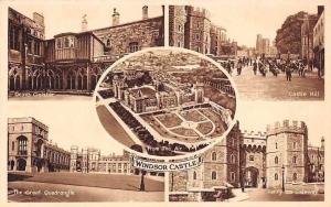 Windsor Castle Deans Cloister Castle Hill Great Quadrangle Henry VIII Gateway