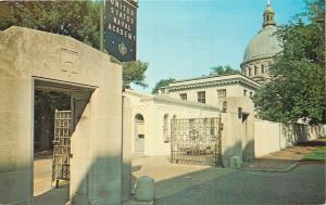 Annapolis Maryland~U S Naval Academy~Campus University Front Gate~1960s Postcard